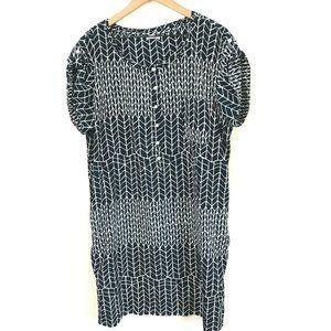 GAP Short Sleeve Printed Shift Dress XL
